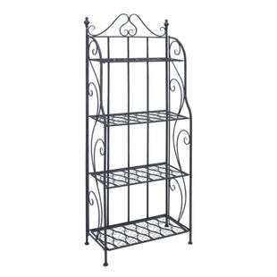 Sunny Black Metal Indoor or Outdoor Planters Rack