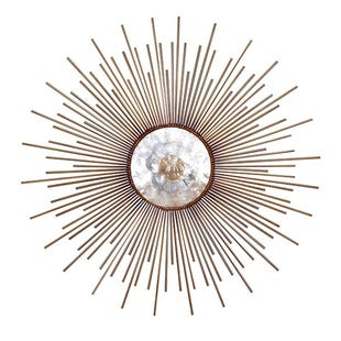 Metal Glam Capiz Wall Art