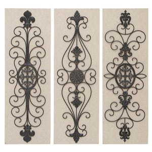 Assorted Wood & Metal Fleur-De-Lis Wall Panels