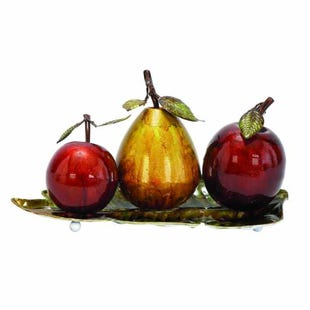 "UMA Metal Fruit Decor 9""H X 19""W"