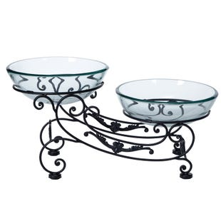 Double Glass Bowl Centerpiece