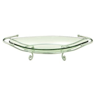 "Sleek 30"" Silver Bowl Centerpiece"