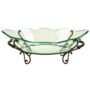 Scalloped Glass Bowl Centerpiece