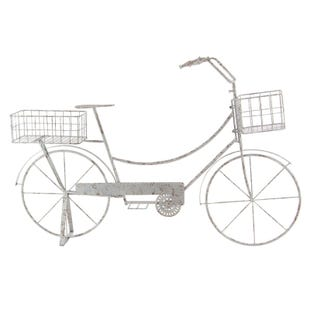 Madison White Metal Bicycle Plant Stand