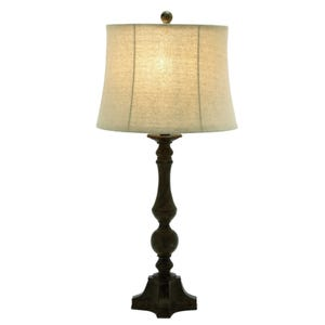 Joshua Traditional Brown Table Lamp