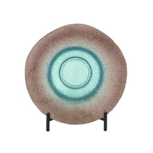 Turquoise Modern Bowl With Stand