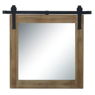 Joanna Farmhouse Wood & Metal Wall Mirror