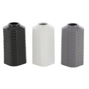 Assorted Gray, Black, White Ceramic Vase