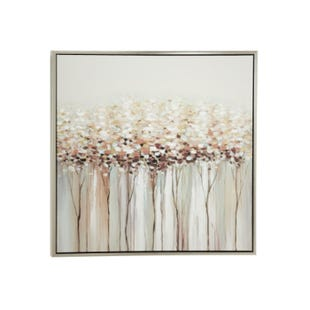 Blushing Petals Framed Canvas