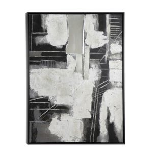 Abstract Grayscale Canvas Art