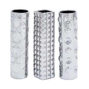 UMA  Assorted Chrome Vases