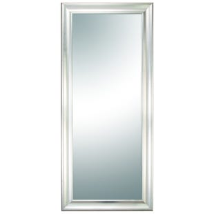 Silver Wood Beveled Mirror