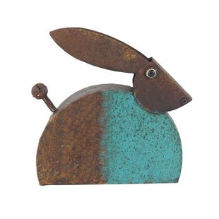 Rustic Blue Rabbit