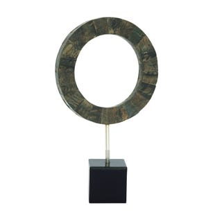 "UMA Metal and Wood Resin Sculpture 12""W X 19""H"