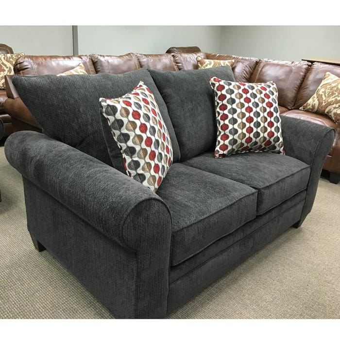 Simmons Elliptical Chocolate Chenille Loveseat Weekends Only Furniture