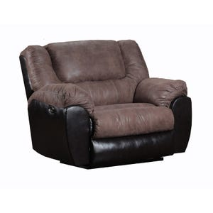 Simmons Bandera Two-Tone Brown Faux Leather Cuddler Recliner
