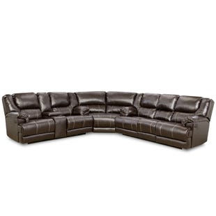 Simmons Bingo Brown Reclining Sectional