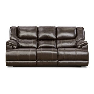 Simmons Bingo Brown Reclining Sofa