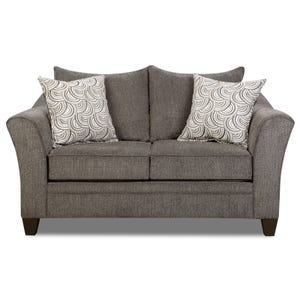 Simmons Hudson Gray Chenille Loveseat