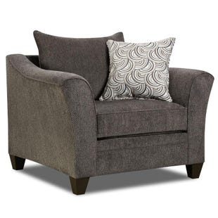 Simmons Hudson Gray Chenille Chair