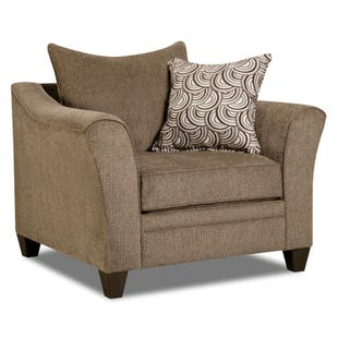Simmons Albany Truffle Chenille Chair