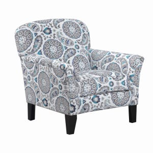 Simmons Grandstand Blue Floral Accent Chair