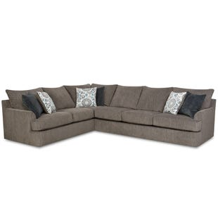 Grandstand Granite Twill Oversize Sectional