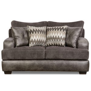 Ulysses Charcoal Chenille Loveseat