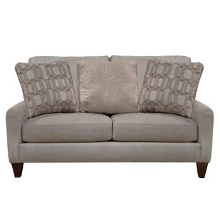 Jackson Ackland Cream Loveseat with USB Port