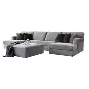 Carlsbad 3 Piece Gray Velvet Double Chaise Sectional