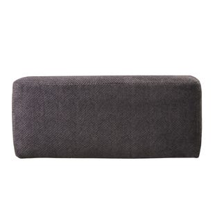 Midwood Gray Chenille Cocktail Ottoman
