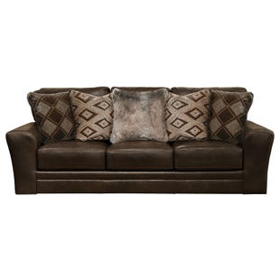 Jackson Denali Chocolate Top Grain Leather Sofa