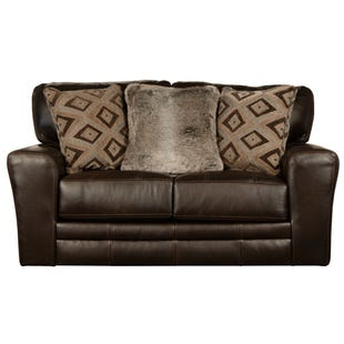 Jackson Denali Chocolate Top Grain Leather Loveseat