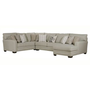 Maison 3 Piece Cream Right Facing Chaise Sectional