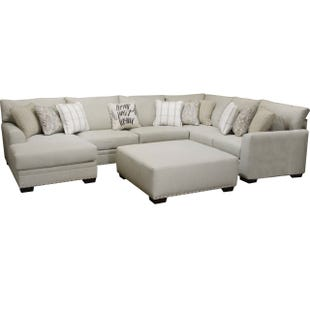 Maison 3 Piece Cream Left Facing Chaise Sectional