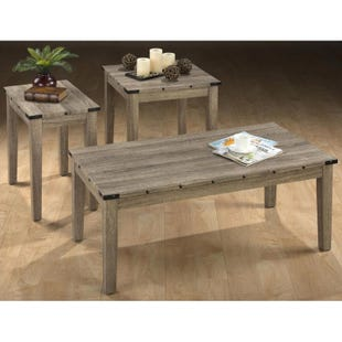 Taos Oak 3 Pack Table Set