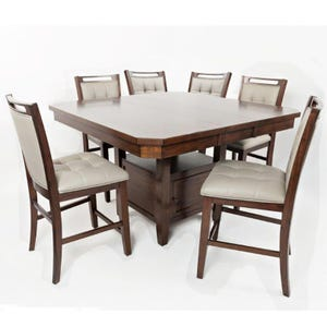Manchester 7 Piece Counter Height Upholstered Dining Set
