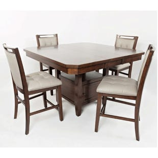 Manchester 5 Piece Counter Height Upholstered Dining Set