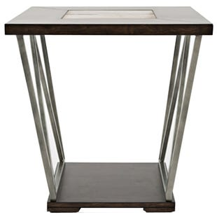Jofran Leonardo Dark Brown End Table