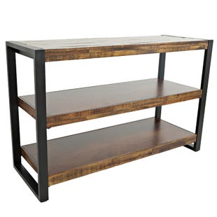 Loftworks Metal and Wood Rustic Sofa Table