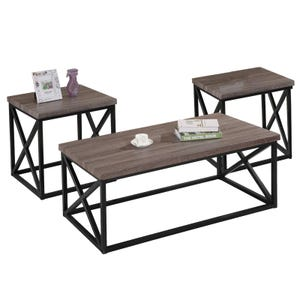 Jofran Orion Dark Grey 3-Pack Tables