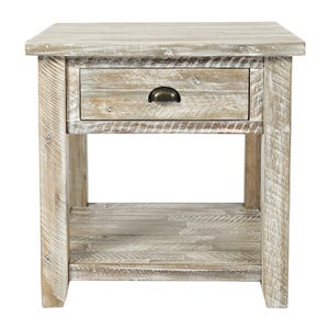 Artisan's Craft Washed Gray End Table