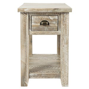 Artisan's Craft Washed Gray Chairside Table