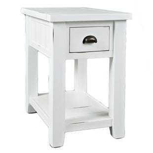 Jofran Artisan's Craft Weathered White End Table