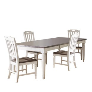 Orchard Park Soft Gray 5 Piece Dining Set