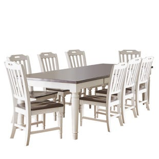 Orchard Park Soft Gray 9 Piece Dining Set