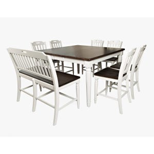 Orchard Park Soft Gray 8 Piece Counter Height Dining Set