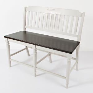 Orchard Park Soft Gray Counter Height Bench