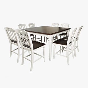 Orchard Park Soft Gray 9 Piece Counter Height Dining Set