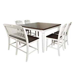 Orchard Park Soft Gray 6 Piece Counter Height Dining Set